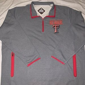 Texas Tex Red Raiders Men's Half Zip Sweat Sz 4XL